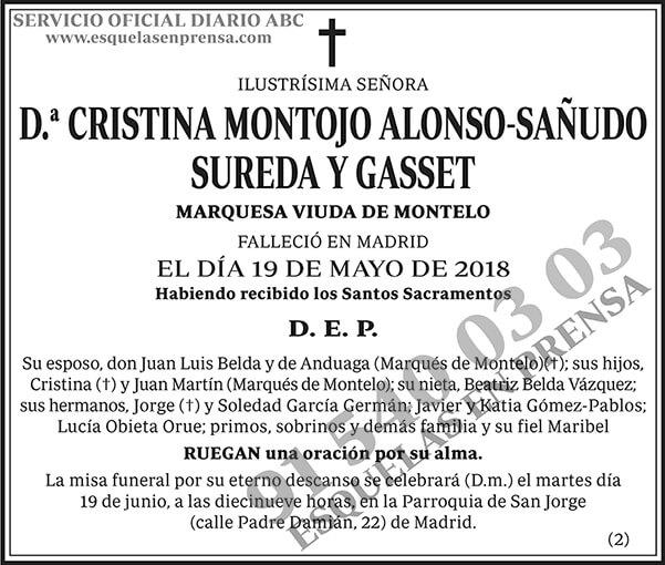 Cristina Montojo Alonso-Sañudo Sureda y Gasset